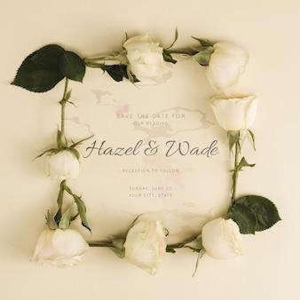 Botões de rosas brancas de casamento