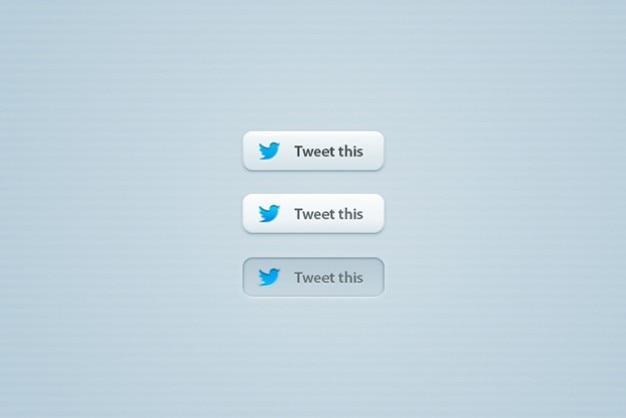 Botões do twitter elegantes psd