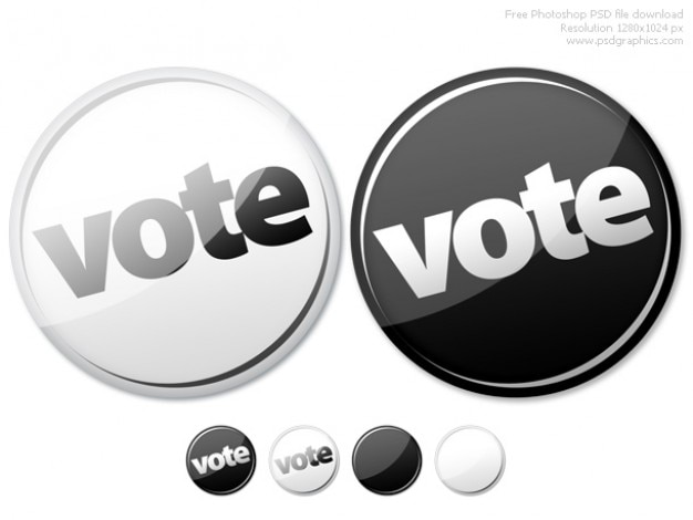 Botões photoshop vazia e votar