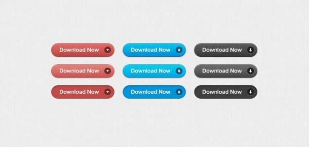 Botões simples download (psd)