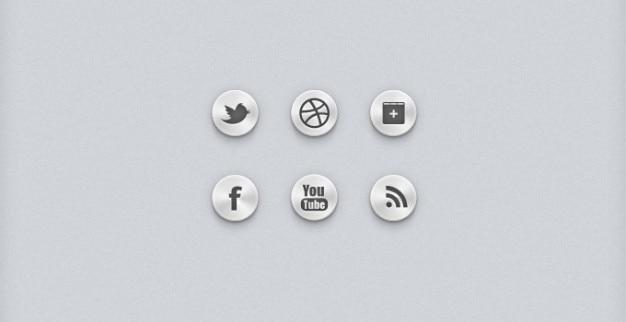 Botões sociais ícones sociais ui sociais
