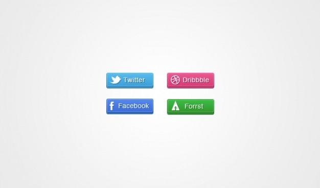 Botões sociais