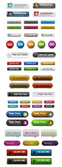Botões web. variedade de estilos.