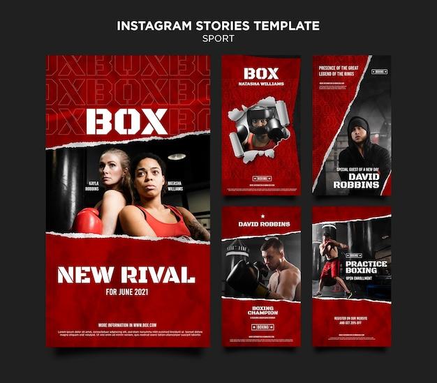 Box histórias de mídia social