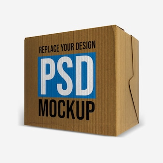 Box mockup 3d rendering design