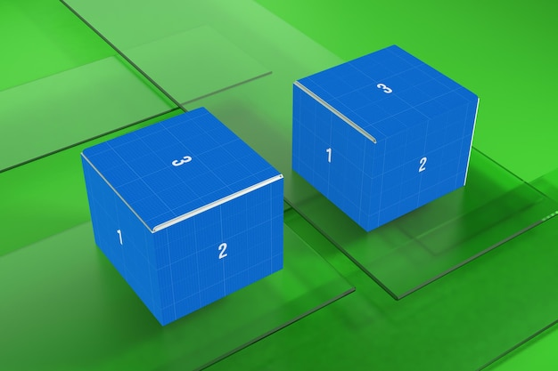Box on glass