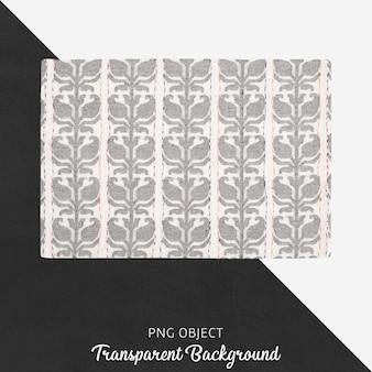 Branco e cinza claro têxteis de cozinha estampados em fundo transparente