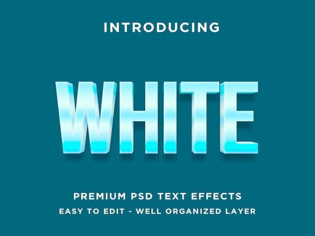 Branco frio - maquete de efeito de estilo de texto