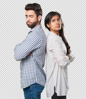 Bravo jovem casal tendo problemas