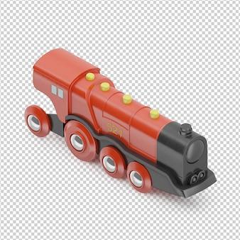 Brinquedo trem isométrico