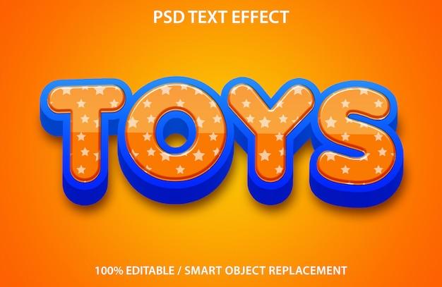 Brinquedos editáveis com efeitos de texto