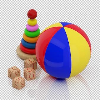 Brinquedos infantis isométricos