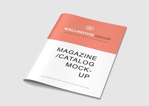 Brochura a4 e maquetes de revistas