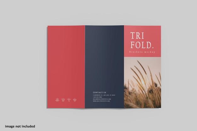Brochura a4 mockup com três dobras