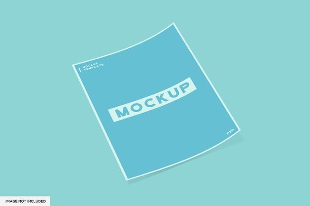 Brochura a4 ou modelo de maquete de base
