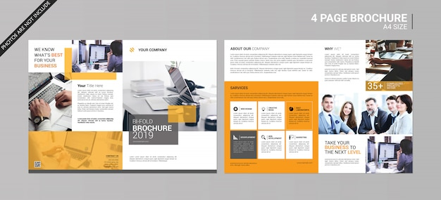 Brochura bi-fold da empresa