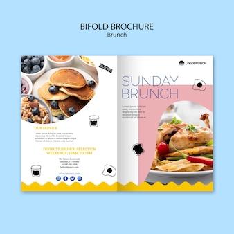 Brochura bifold de comida de brunch de domingo