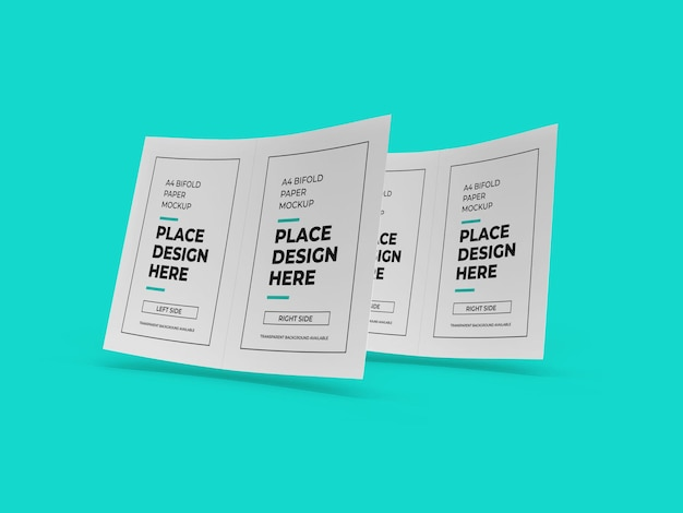 Brochura bifold paper mockup