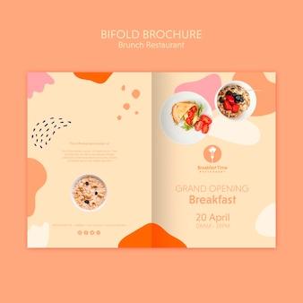 Brochura bifold para café da manhã de inauguração
