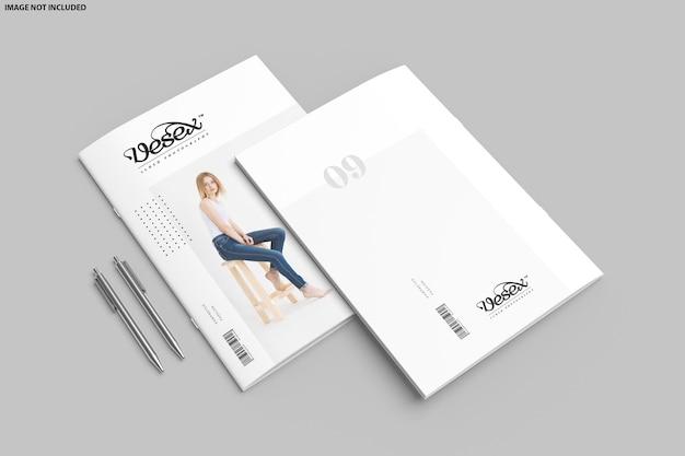 Brochura com design de maquete dupla