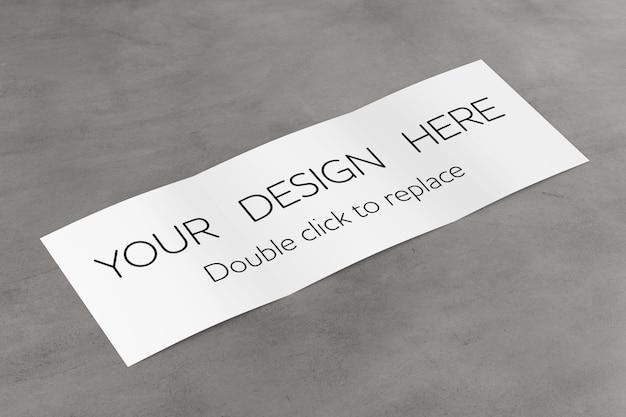 Brochura com três dobras mock up view - renderização em 3d
