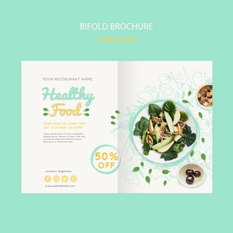 Brochura de alimentos saudáveis bifold