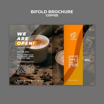 Brochura de café bifold