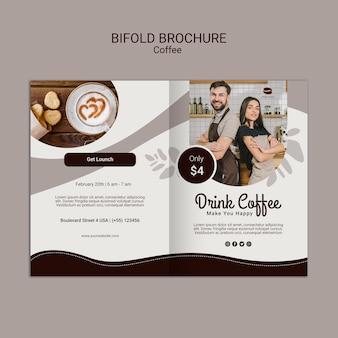 Brochura de café bifold Psd grátis