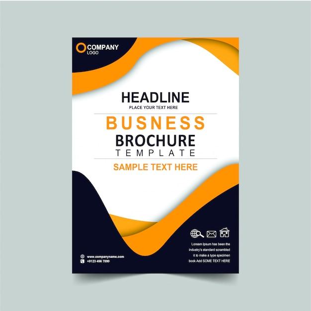 Brochura de negócios de manchete
