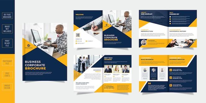 Brochura de negócios de páginas corporativas