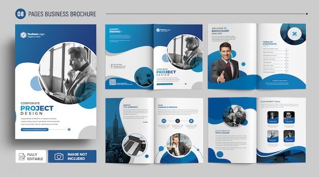 Brochura de páginas de rosto do perfil da empresa