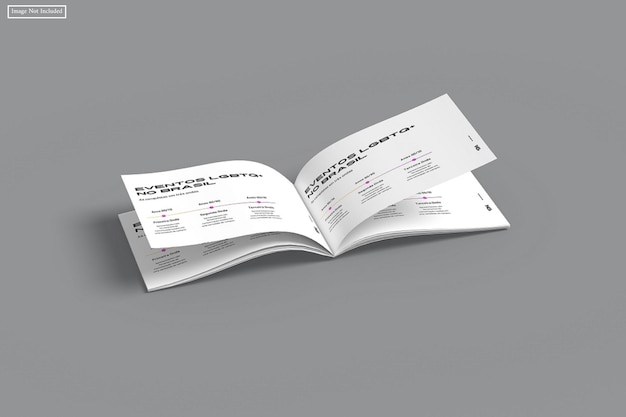 Brochura de paisagem a4 mocku