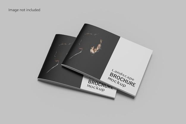 Brochura de paisagem mockup