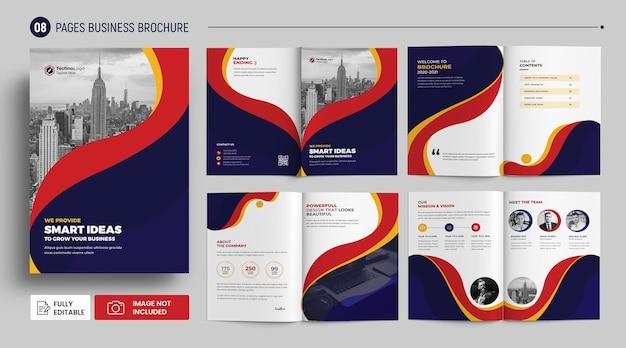 Brochura de perfil de empresa de negócios modelo de capa premium psd