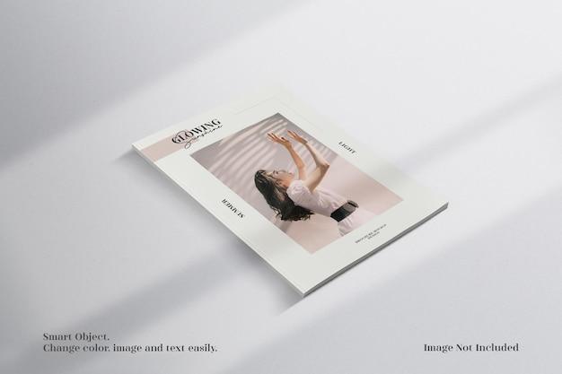 Brochura de perspectiva minimalista ou maquete de revista
