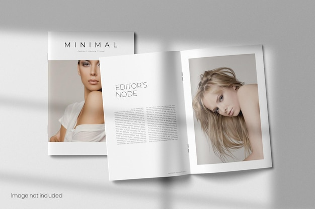 Brochura de vista superior ou maquete de catálogo