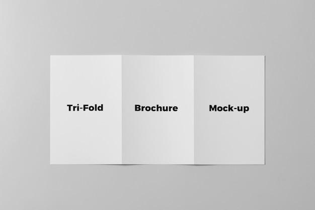 Brochura dobrável em três partes mock up