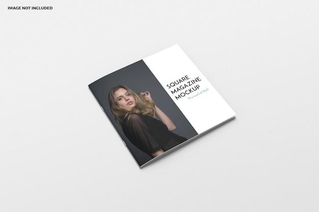 Brochura quadrada e maquete da capa do catálogo