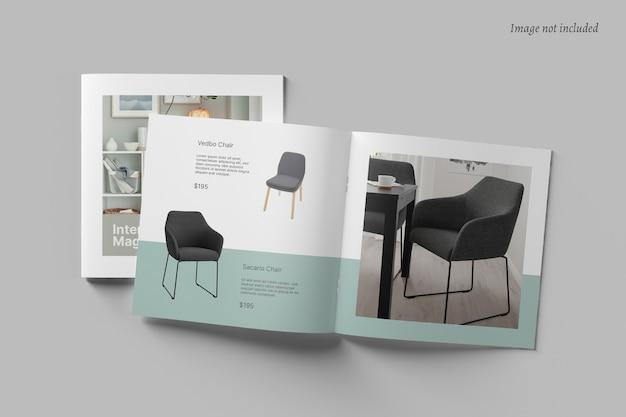 Brochura quadrada e maquete de catálogo