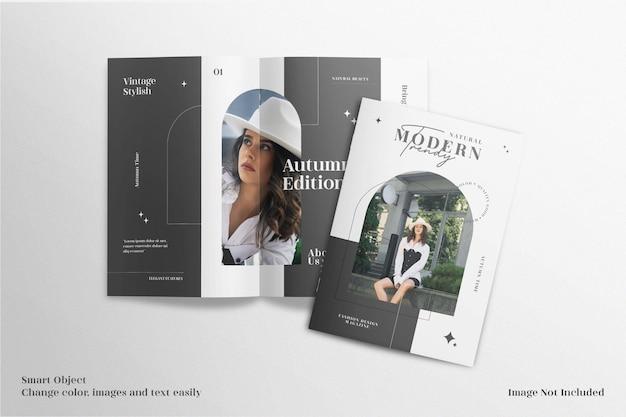 Brochura realista e minimalista elegante ou maquete de revista