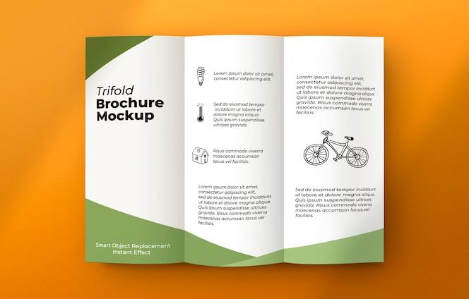 Brochura sobre maquete de superfície cinza