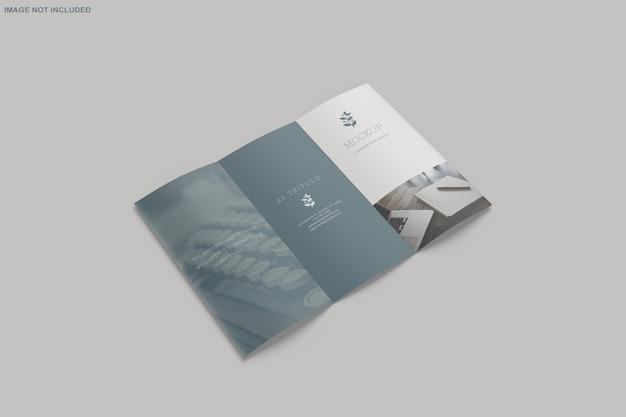Brochura trifold mockup