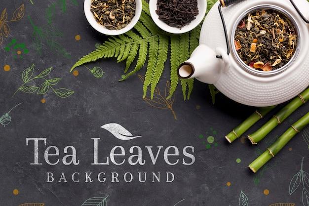 Bule de chá em cerâmica com especiarias