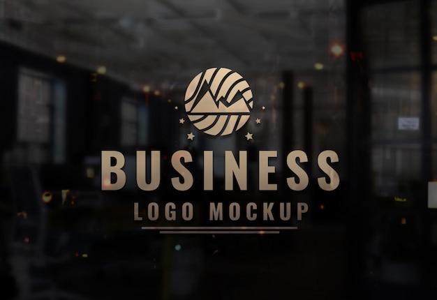 Business logo mockup modelo de logotipo de psd
