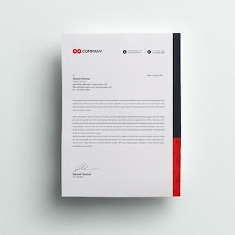 Cabeçalho de carta de negócios corporativos