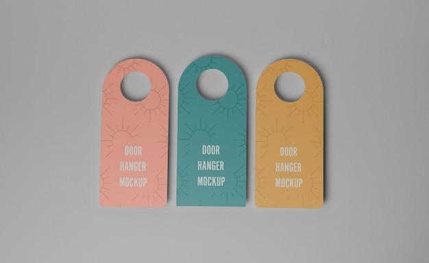Cabides de porta coloridos para privacidade
