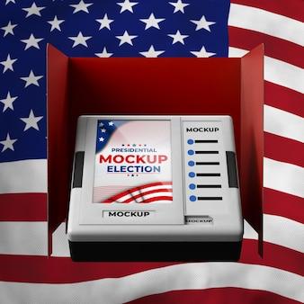 Cabine de votação para as eleições presidenciais dos estados unidos