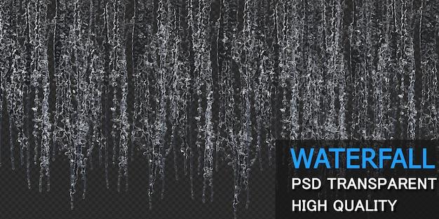 Cachoeira com gotas isoladas design premium psd
