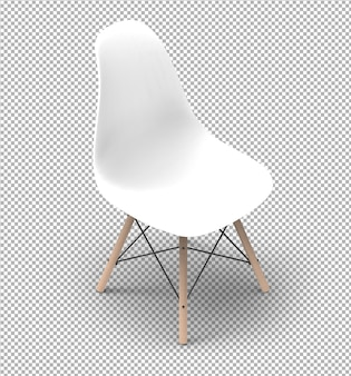 Cadeira 3d moderna isolada