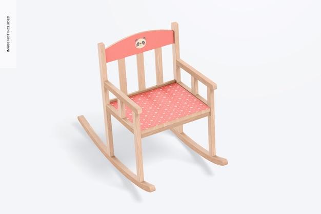 Cadeira de balanço para maquete infantil
